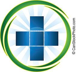 логотип, медицинская, вектор, символ, значок