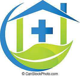 логотип, медицинская, символ, бизнес, природа