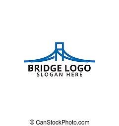 логотип, мост, шаблон, значок
