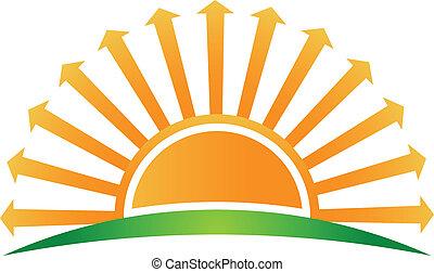 логотип, образ, arrows, восход