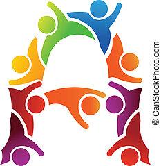 логотип, письмо, люди