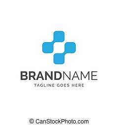 логотип, плюс, абстрактные, символ