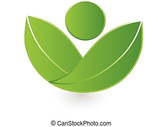 логотип, природа, вектор, здоровье