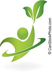 логотип, природа, здоровый, жизнь