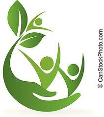 логотип, природа, здоровье, забота