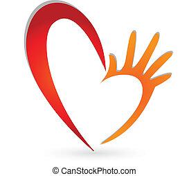 логотип, руки, сердце