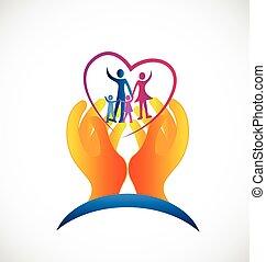 логотип, символ, здоровье, семья, забота