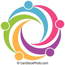 логотип, символ, командная работа, дизайн