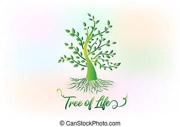 логотип, символ, экология, дерево, leafs