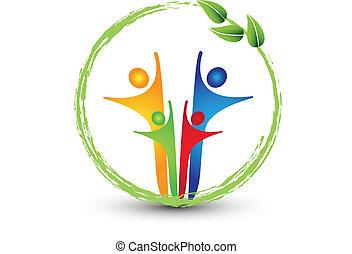 логотип, система, семья, экология