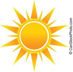 логотип, солнце, образ, играть в хоккей, значок