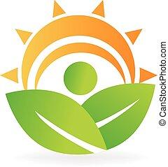 логотип, энергия, здоровье, leafs, природа