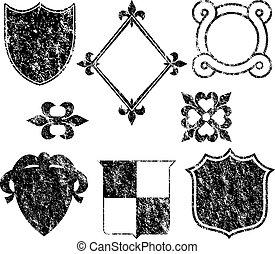 логотип, elements, гранж