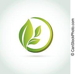 логотип, healh, leafs, природа