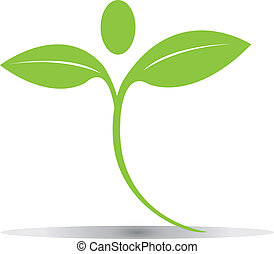 логотип, leaves, вектор, зеленый, eps10