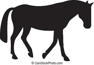 лошадь, вектор