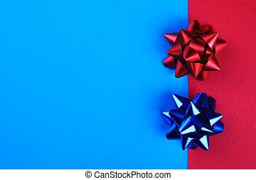 лук, красный, задний план, синий, яркий, two-color