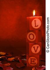 люблю, освещенный, святыня, вертикальный