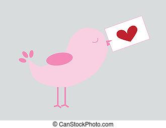люблю, птица