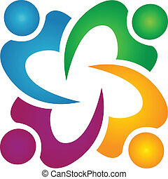 люди, бизнес, командная работа, логотип, группа