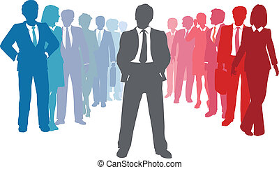 люди, бизнес, лидер, команда, компания