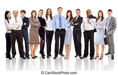 люди, бизнес, молодой, -, команда, привлекательный, элита