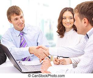 люди, бизнес, руки, вверх, finishing, встреча, shaking