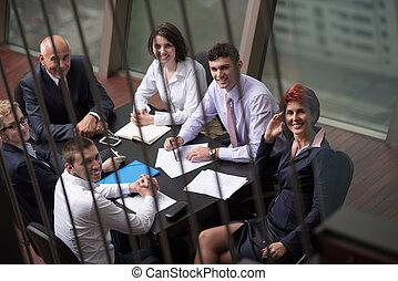 люди, встреча, группа, бизнес