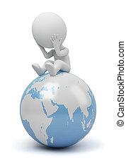 люди, -, глобальный, вопрос, маленький, 3d