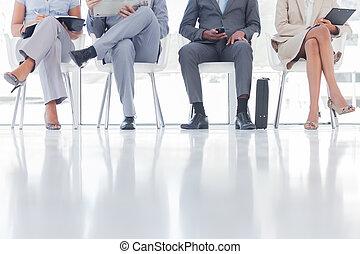люди, группа, ожидание, бизнес