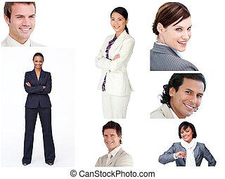 люди, коллаж, бизнес, веселая