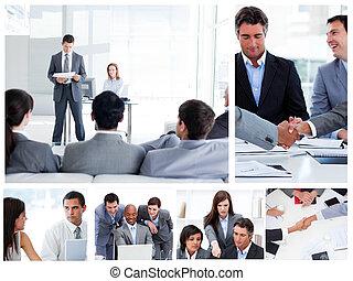 люди, коллаж, бизнес, communicating