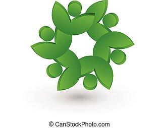 люди, командная работа, здоровье, leafs, логотип