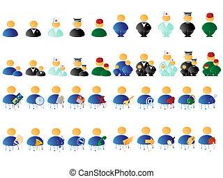 люди, многоцветный, icons