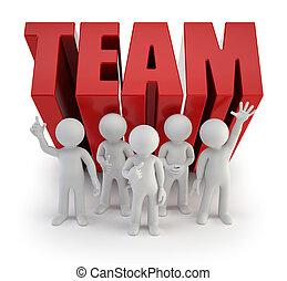 люди, надежный, -, команда, маленький, 3d