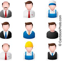 люди, -, офис, icons