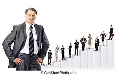люди, diagram., бизнес, команда
