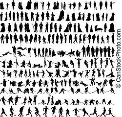 люди, silhouettes, коллекция, bigest