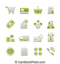 магазин, задавать, icons, -, вектор, онлайн, значок