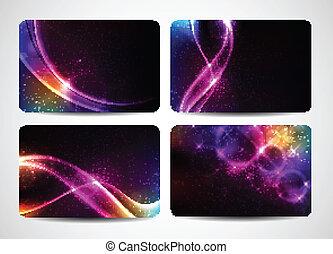 магия, красочный, бизнес, легкий, colors, яркий, cards