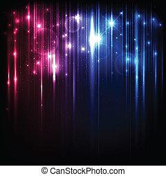 магия, число звезд:, lights, яркий, вектор, задний план