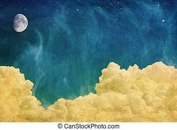 магия, clouds, луна