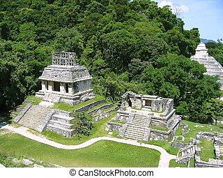 майя, chiapas, мексика, майя, palenque, ruins