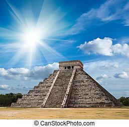 майя, chichen-itza, пирамида, мексика