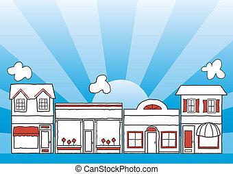 маленький, главный, улица, бизнес