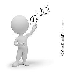 маленький, певец, 3d, -, люди