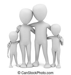 маленький, family., 3d, -, люди