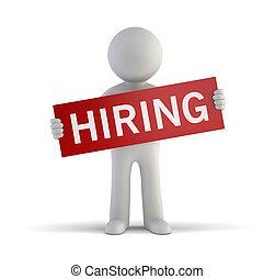 маленький, hiring, 3d, -, люди