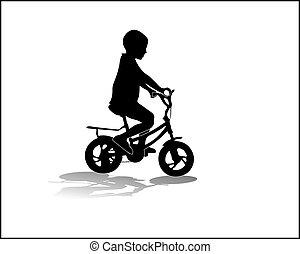 мальчик, велосипед