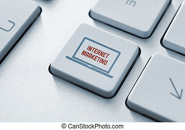 маркетинг, кнопка, концепция, интернет